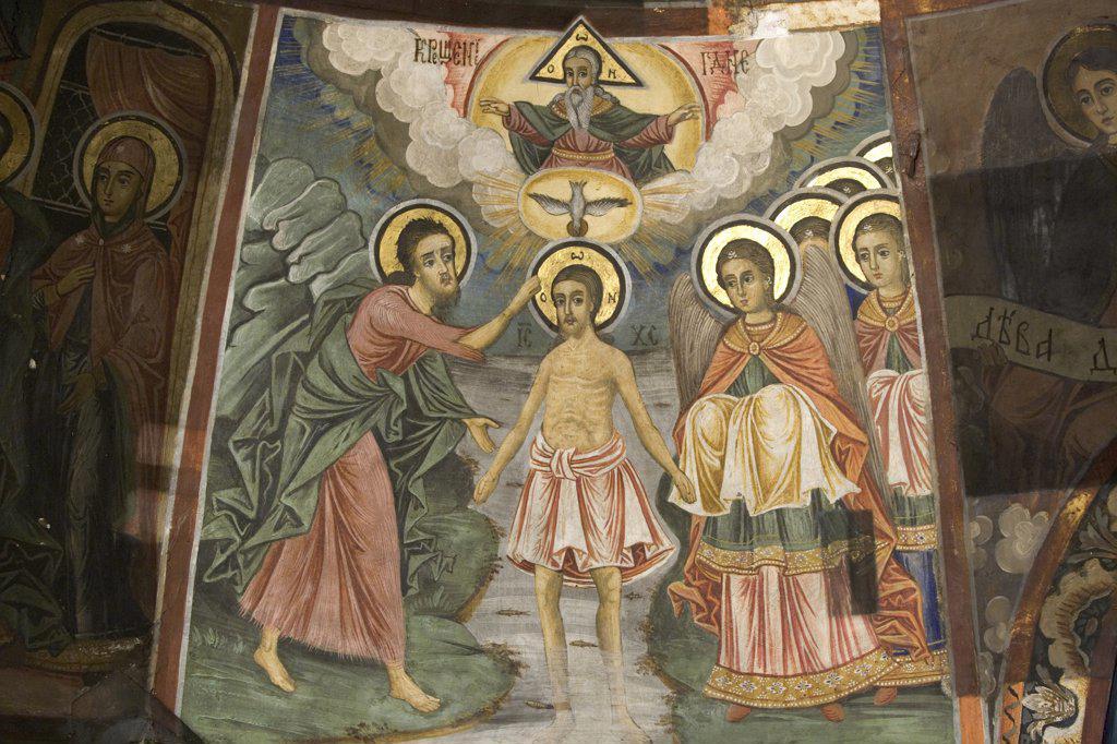 Bulgaria - Veliko Tarnovo -  Preobrazenski Monastery (Transfiguration Monastery). Church fresco : Stock Photo