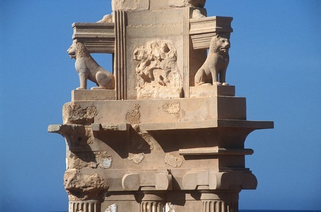 Libya, Sabratha, Historical Tripolitania, Punic tomb : Stock Photo