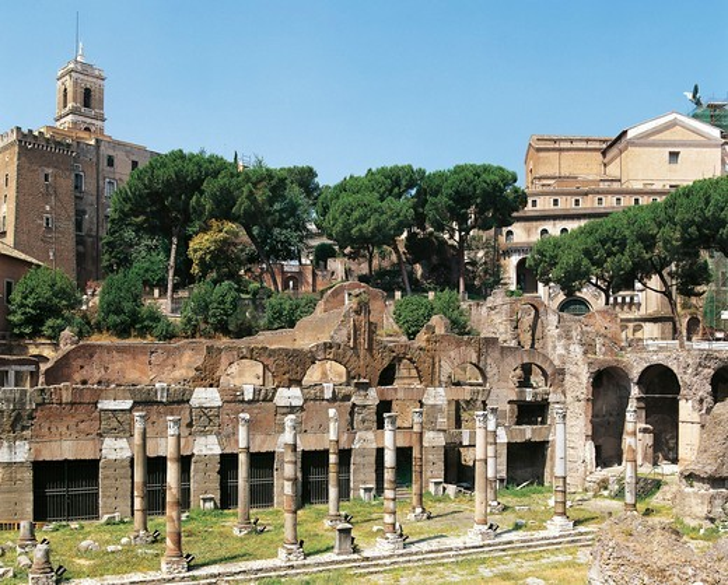 Stock Photo: 1788-18586 Italy, Latium region, Rome, Imperial Fora, Forum of Caesar