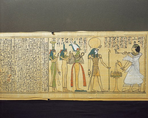 Egypt, Beginning of the Book of the Dead, Papyrus by Khonsumes : Stock Photo