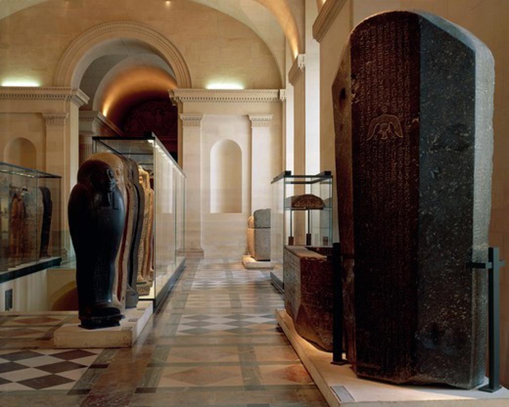 Stock Photo: 1788-18879 France, Paris. Louvre Museum, Sarcophagi Hall