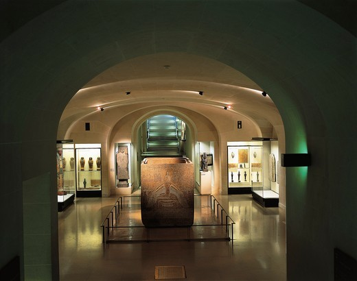 France, Paris, Louvre Museum, Egyptian Antiquities Collection, Osiris Crypt : Stock Photo