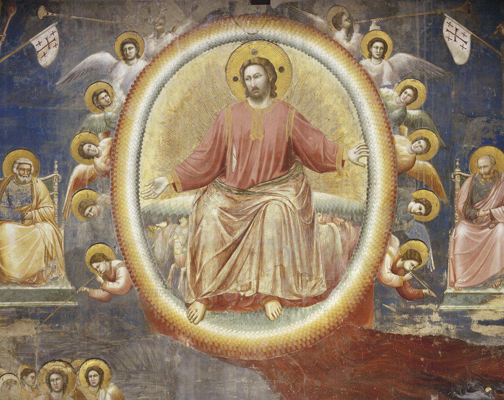 Stock Photo: 1788-1914 Italy - Veneto Region - Padua - Scrovegni Chapel - Giotto - Last Judgment