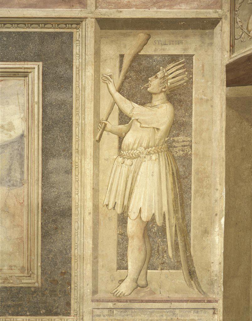 Stock Photo: 1788-1918 Italy - Veneto Region - Padua - Scrovegni Chapel - Foolishness