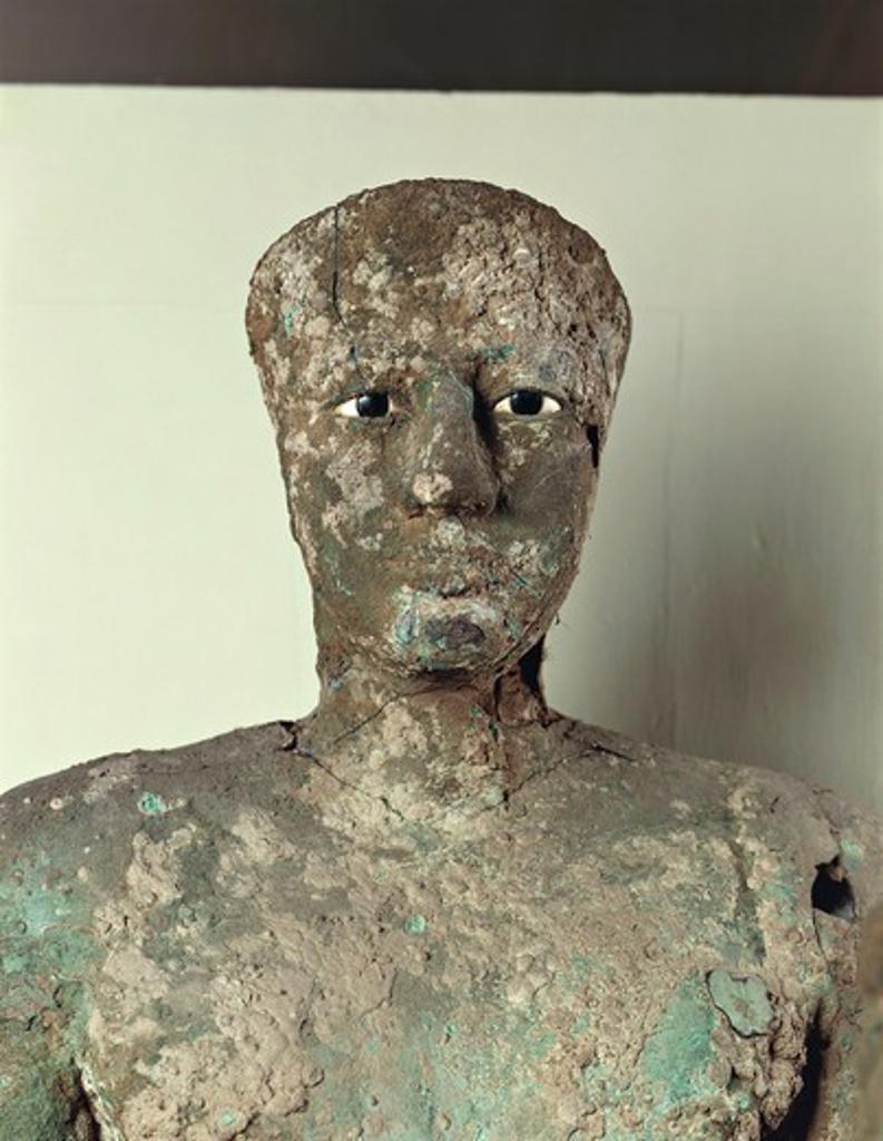 Stock Photo: 1788-19193 Copper statue of Pepi I from Hierakonpolis