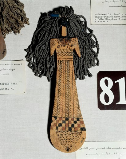 Stock Photo: 1788-19195 Painted wooden doll from Thebes