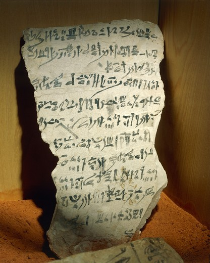 Stock Photo: 1788-19312 Ostraka with hieratic writing