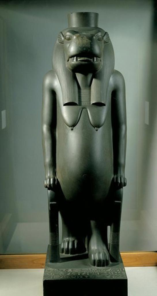 Schist statue of goddess Tueris, from chapel of Osiris Nebdjet at Karnak : Stock Photo