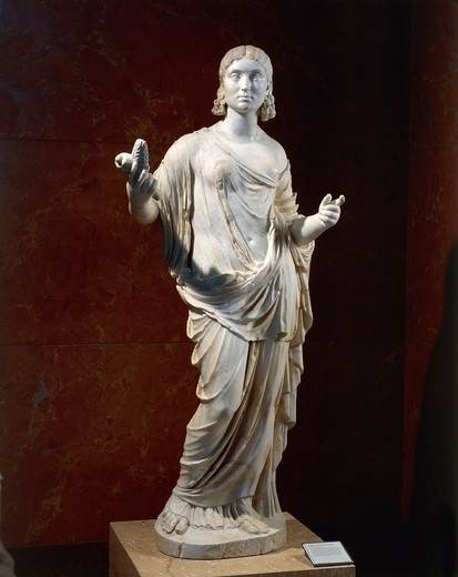 Statue of female figure portrayed as Ceres : Stock Photo