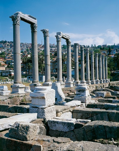 Stock Photo: 1788-20088 Turkey, Aegean Region, Izmir, Colonnaded agora