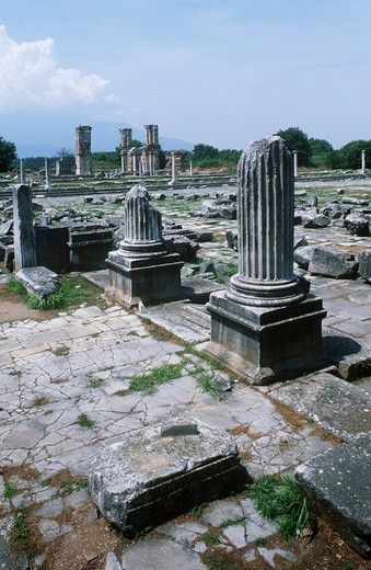 Stock Photo: 1788-20229 Greece, Macedonia, Philippi, Roman forum