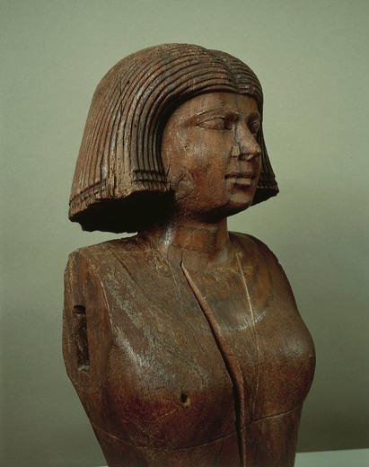 Stock Photo: 1788-20266 Statue portraying wife of Ka-Aper from Saqqara, circa 2475 b.c.