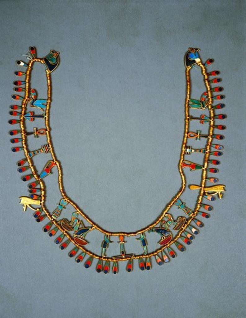 Stock Photo: 1788-20267 Collar of Khnumit from Dahshur, 1929-1897 b.c.