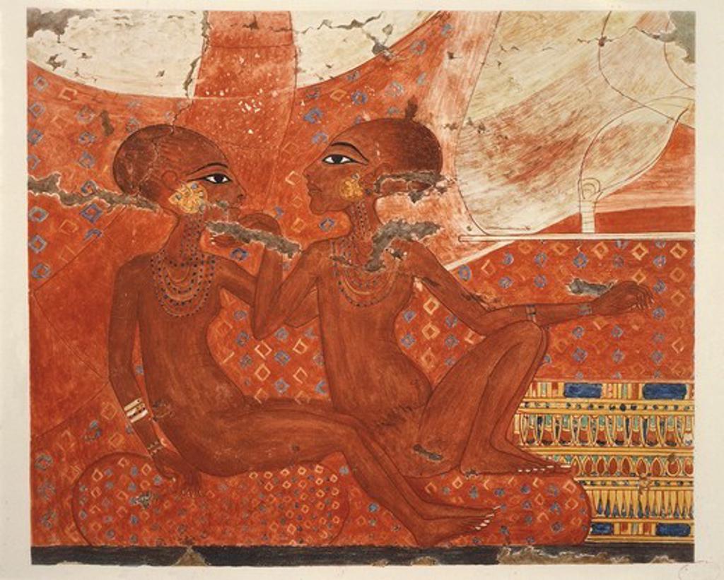 Ancient Egyptian Painting, by Nina M. Davies,1936 : Stock Photo