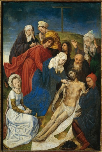 Austria, Vienna, Lamentation Over the Dead Christ : Stock Photo