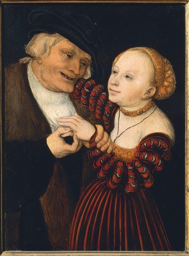 Stock Photo: 1788-20713 Austria, Vienna, The Old Man and the Young Woman