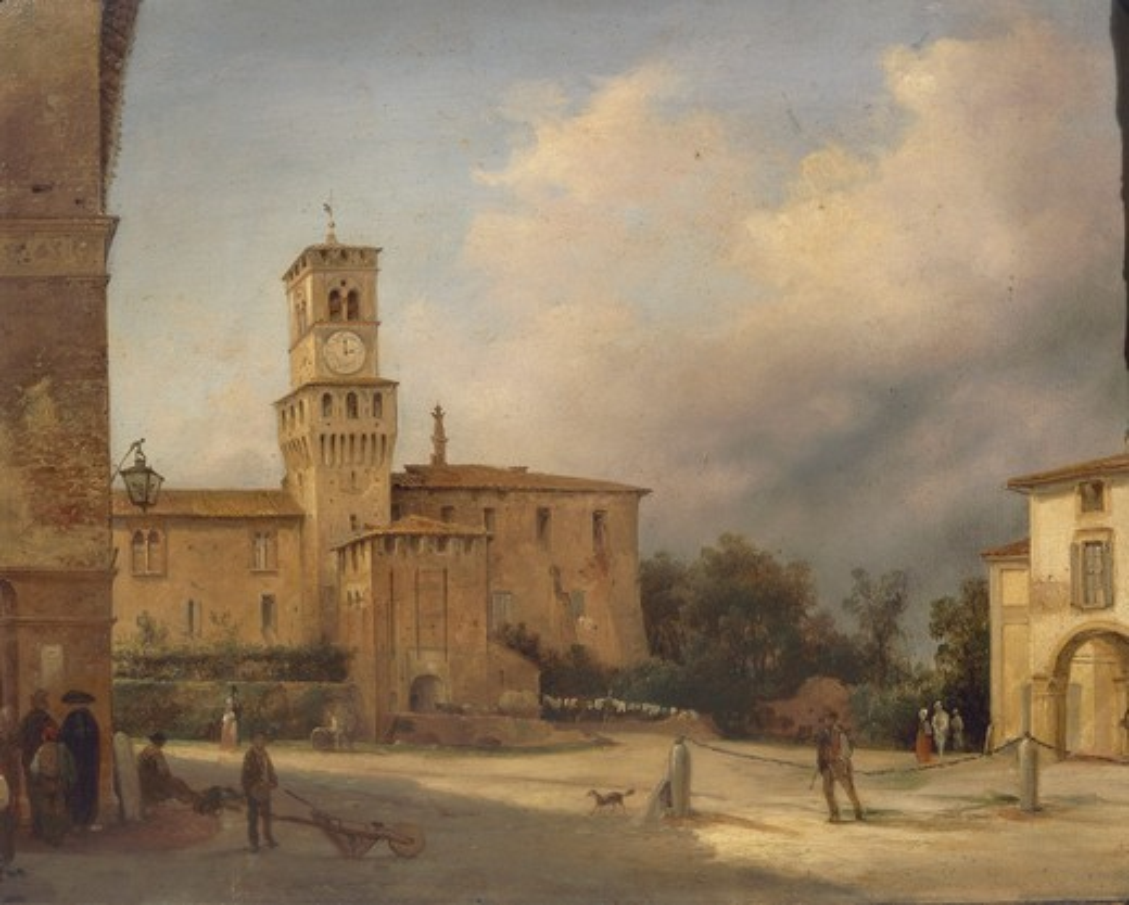 Stock Photo: 1788-20727 Italy, Milan, Rocca di Busseto, Hometown of Giuseppe Verdi (1813-1901)