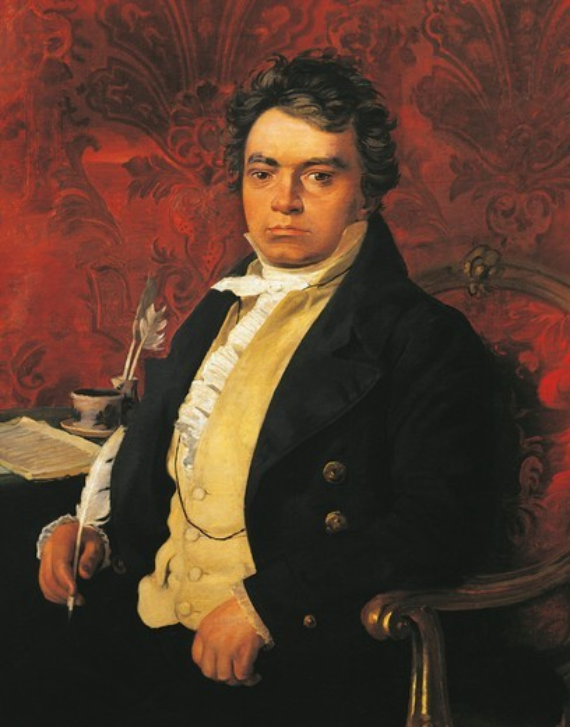 Stock Photo: 1788-20886 Italy, Bologna, Portrait of Ludwig van Beethoven