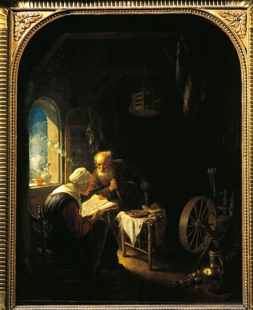 Stock Photo: 1788-21126 France, Paris, Reading Bible
