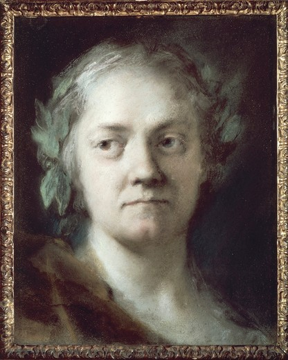 Italy, Venice, Self Portrait of Rosalba Carriera : Stock Photo