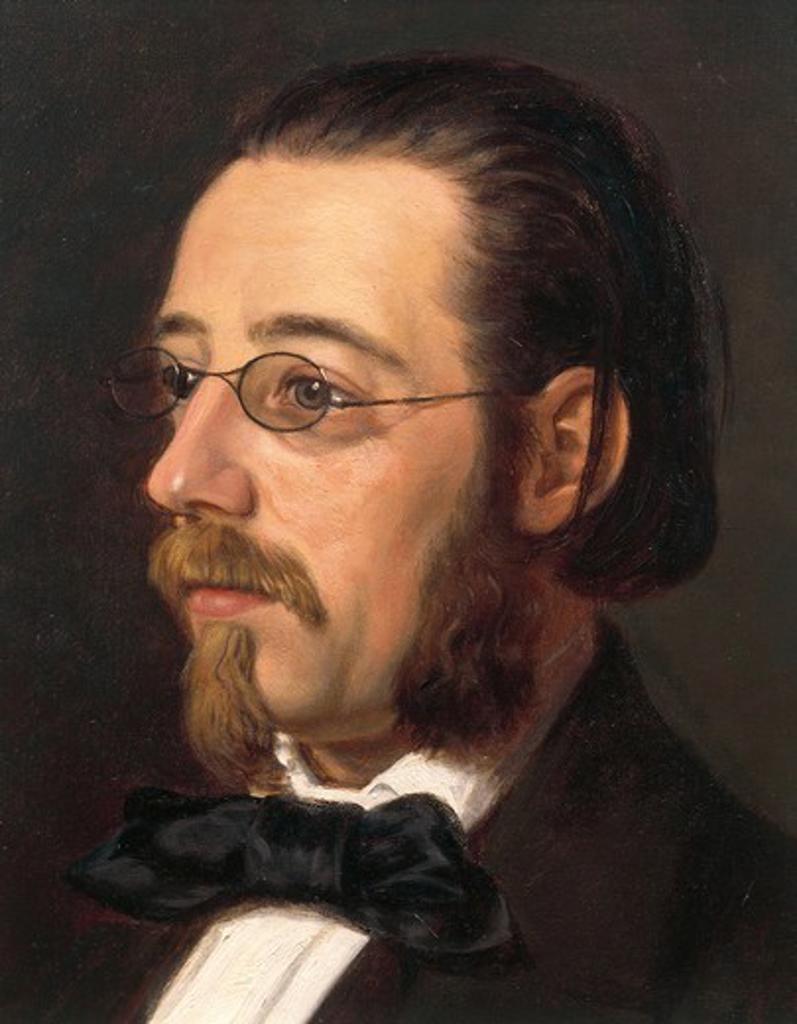 Czech Republic, Portrait of Czech composer, Bedrich Smetana : Stock Photo