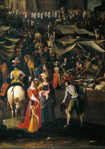 Stock Photo: 1788-21280 Italy, Florence, Fair of Impruneta, 1618