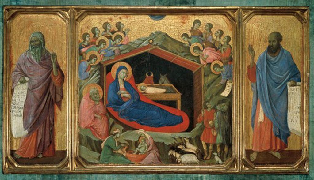 Stock Photo: 1788-21393 USA, Washington, Nativity, Predella panel of Altar-Piece of Maesta di Siena