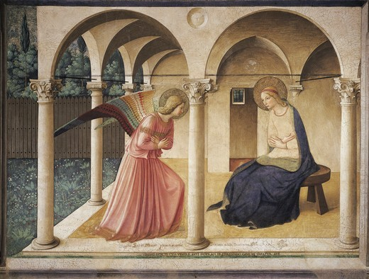 Stock Photo: 1788-21453 Italy, Florence, Annunciation painting