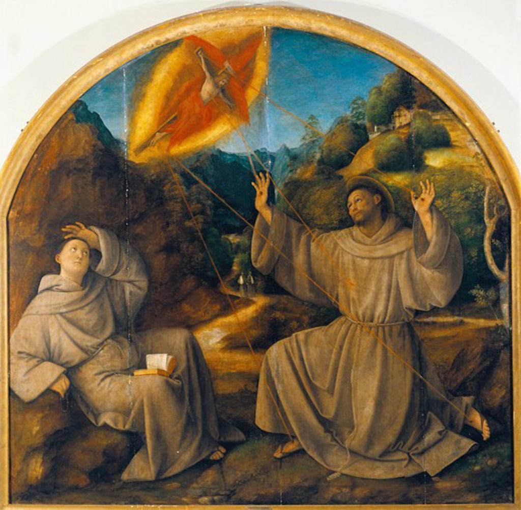 Italy, Varallo, painting of Saint Francis Receiving the Stigmata : Stock Photo