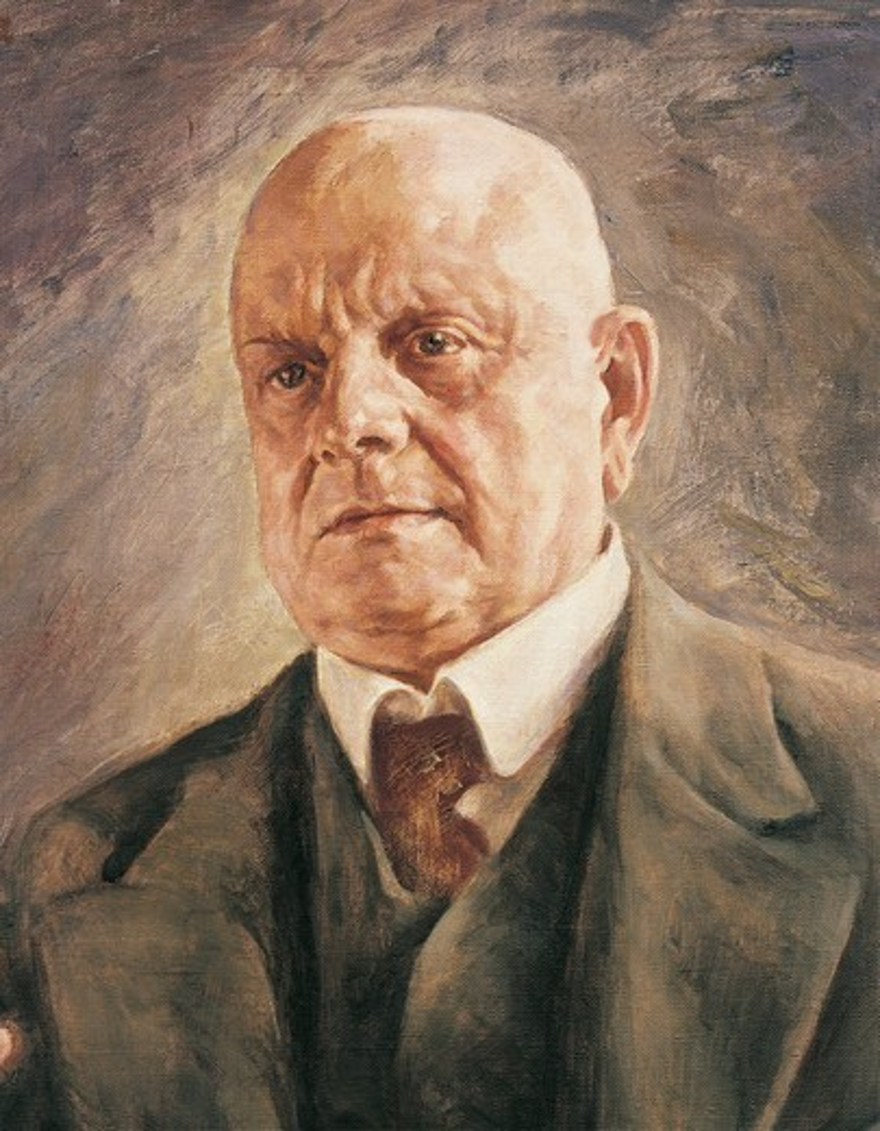 Finland, Turku, Portrait of Jean Christian Julius Sibelius : Stock Photo