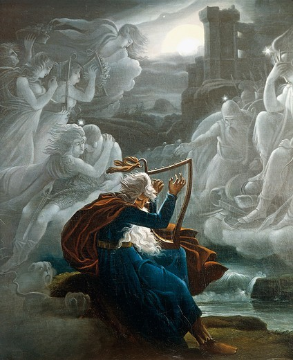 Stock Photo: 1788-21821 Hungary, Budapest, The Lament of Ossian, detail