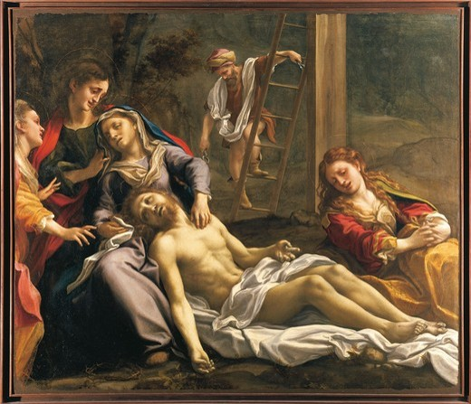Stock Photo: 1788-21893 Italy, Parma, Lamentation over the dead Christ