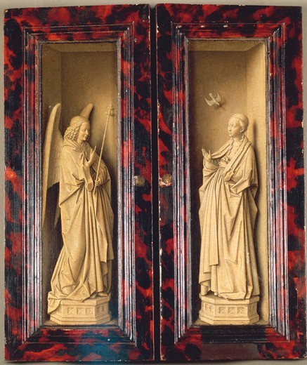 Stock Photo: 1788-21900 Germany, Dresden, Two closed panels of Triptych with Annunciation
