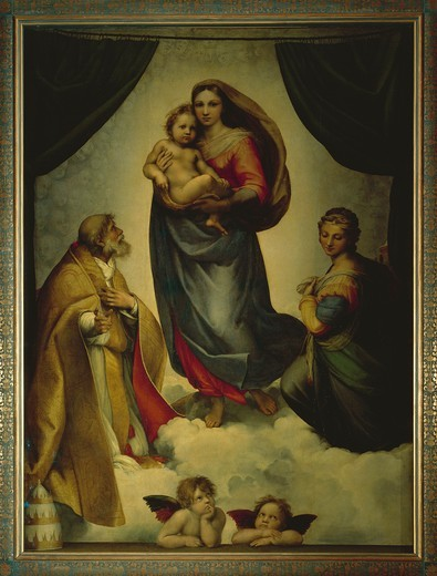 Stock Photo: 1788-21910 Germany, Dresden, Sistine Madonna, 1513-1514, oil on canvas