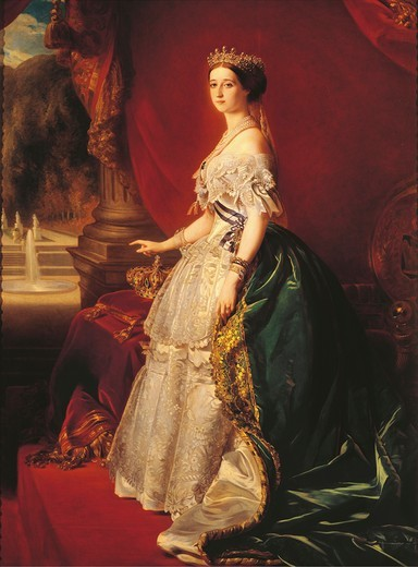 Stock Photo: 1788-21920 France, Portrait of Eugenie de Montijo, wife of Napoleon III, Empress consort of the French (1853-1871)