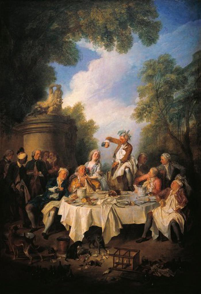 France, Chantilly, The Ham Lunch (Le Dejeuner de Jambon) : Stock Photo