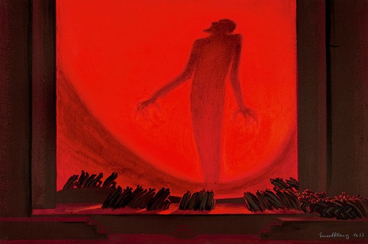 France, Paris, Hell, sketch for the scenic design of La Damnation de Faust (Damnation of Faust, 1846) : Stock Photo