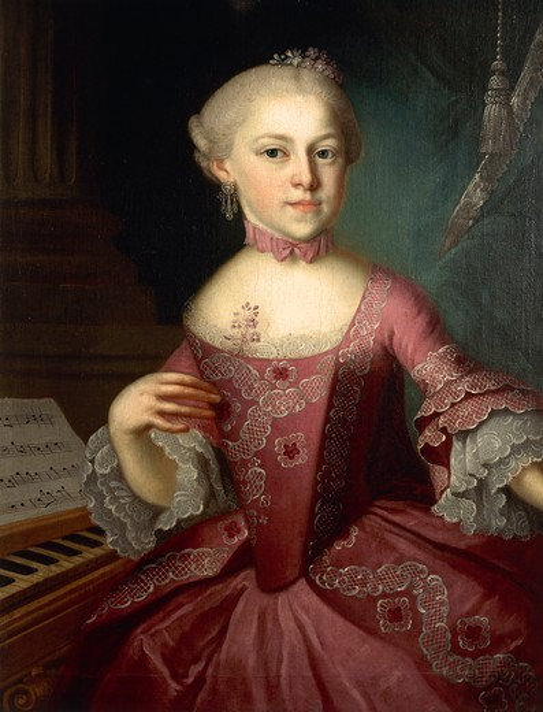 Austria, Child portrait of Austrian pianist Maria Anna Walburga Ignatia Mozart, nicknamed Nannerl, (1751-1829) : Stock Photo
