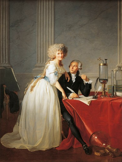 Stock Photo: 1788-22225 France, Portrait of French chemist Antoine Laurent Lavoisier with wife