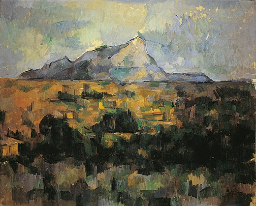 France, Provence, The Mont Sainte-Victoire, Paul Cezanne, 1839-1906, French : Stock Photo