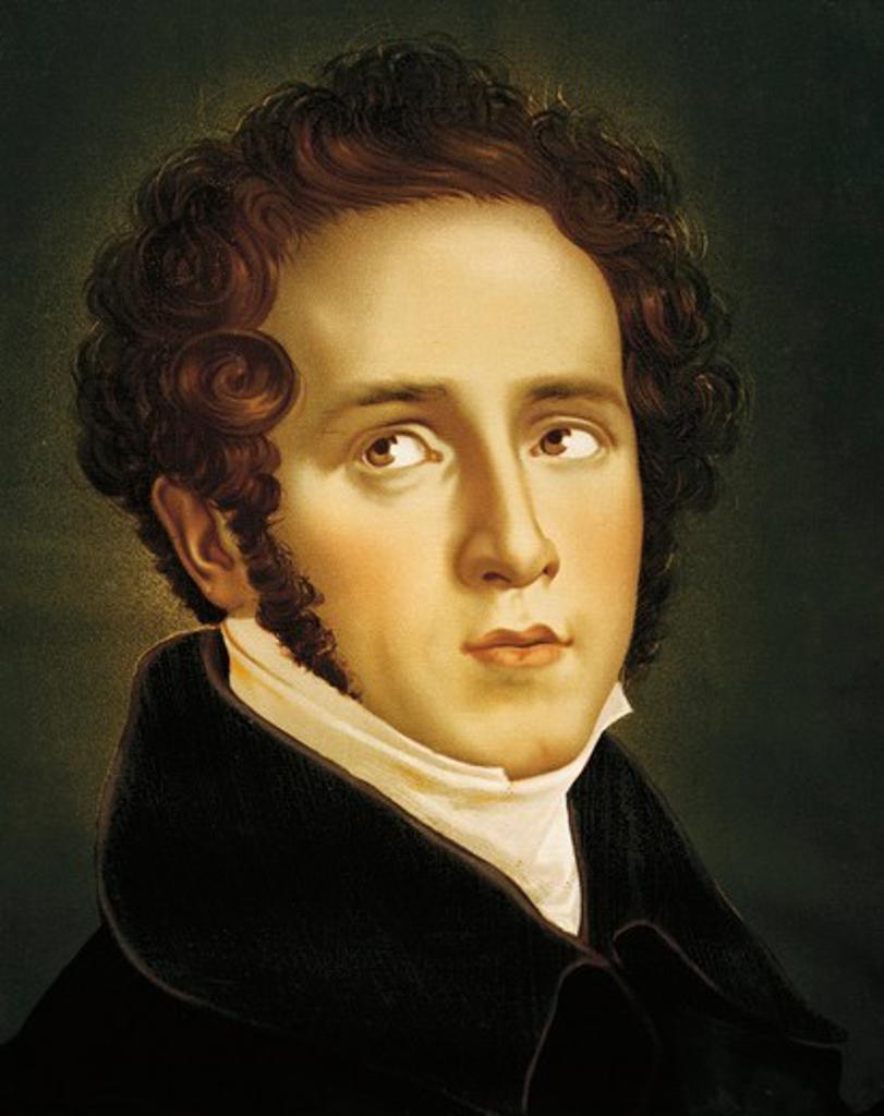 Italy, Catania, Portrait of Italian opera composer, Vincenzo Bellini : Stock Photo
