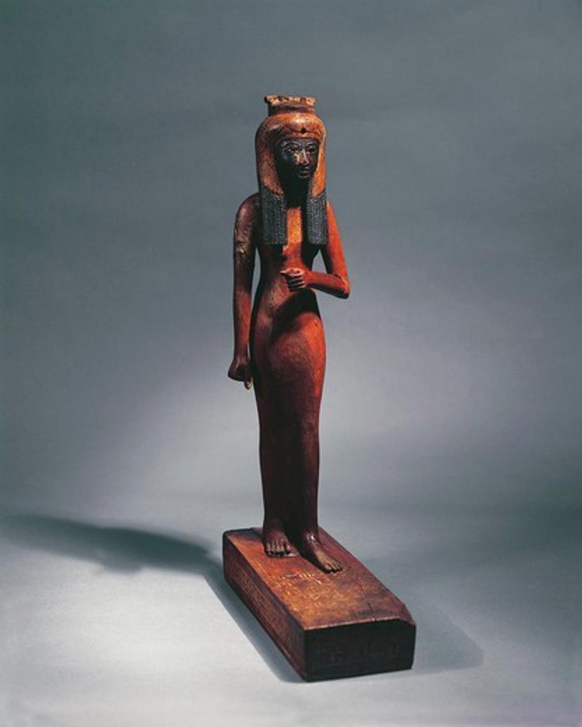 Egypt, Statuette representing the Queen Ahmose-Nefertari (circa 1570-1505 B.C.), mother of Pharaoh Amenhotep I (circa 1526-1497), eighteenth Dynasty : Stock Photo