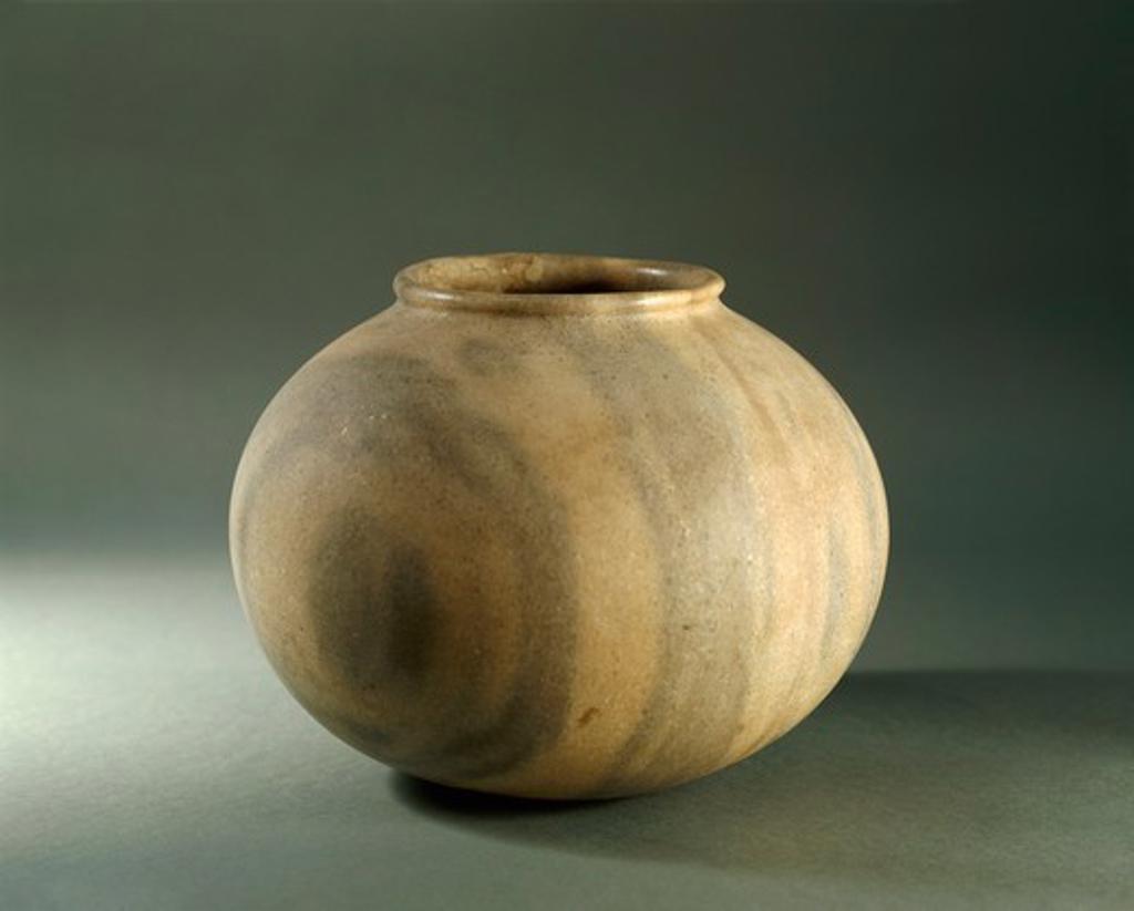 Egypt, Stone jar, predynastic period : Stock Photo