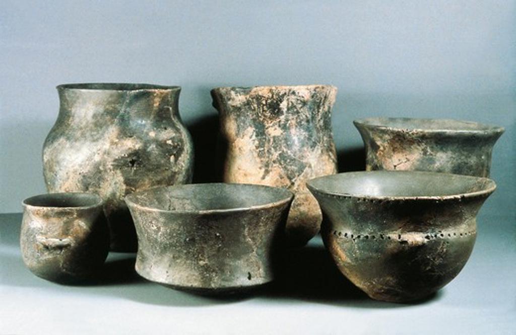 Switzerland, Zurich, Schweizerisches Landesmuseum, Vases : Stock Photo