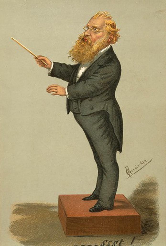 Austria, Vienna, Caricature of Hans Richter (Janos Richter) : Stock Photo