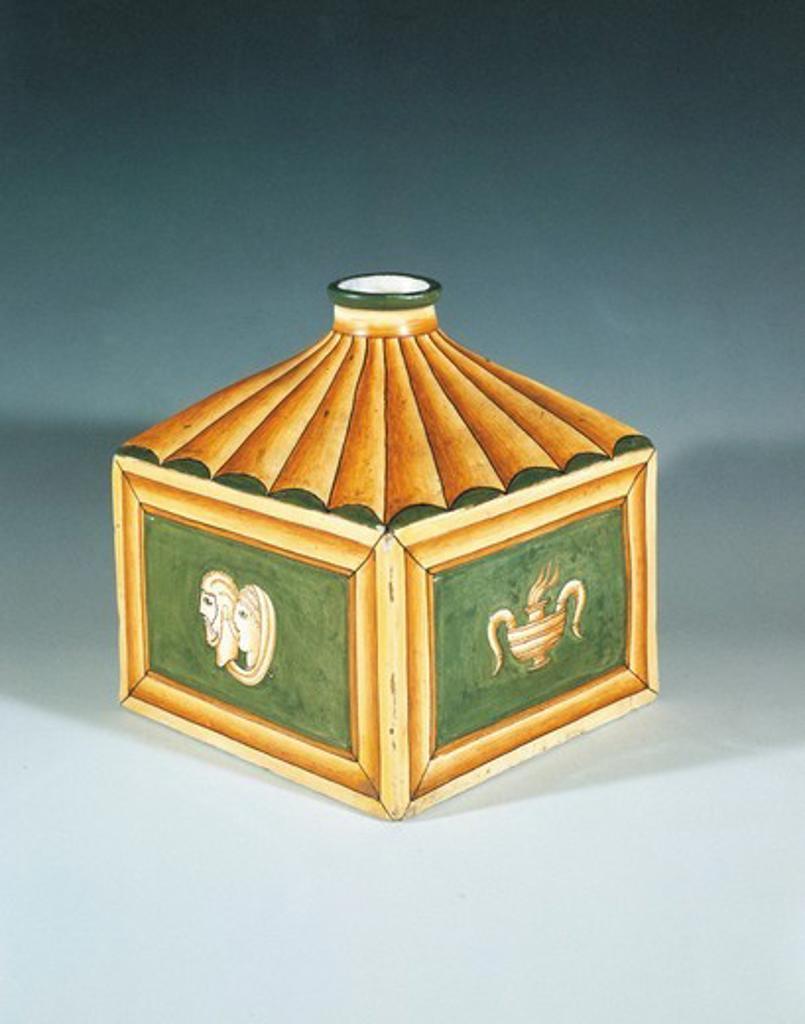Stock Photo: 1788-24021 Hunting Majolica vase by Gio Ponti (1891-1979)