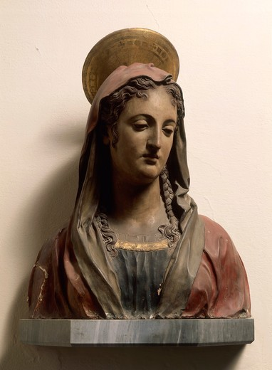 Stock Photo: 1788-24252 Italy, Florence, terracotta bust of Mary of Magdala