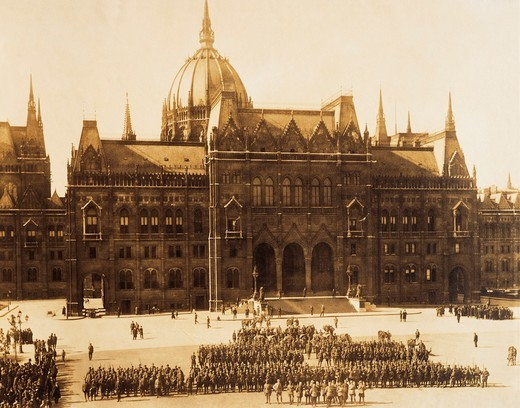 Hungary, Budapest, Budapest occupied by Romanians in September-October 1919 : Stock Photo