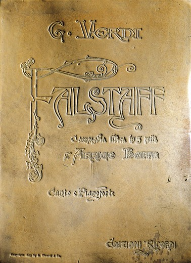 "Stock Photo: 1788-24312 Italy, Milan, Cover of opera """"Falstaff"""" by Giuseppe Verdi (1813-1901)"
