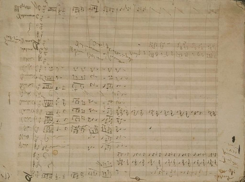 Italy, Bergamo, Autograph score of The Elixir of Love by Gaetano Donizetti : Stock Photo